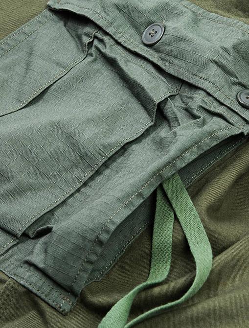 WorkWare M51 Patch Shirt Olive dettaglio tasca
