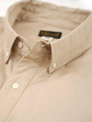 WorkWare Oversize Shirt Kakhi dettaglio collo