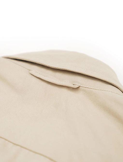 WorkWare Oversize Shirt Kakhi dettaglio collo retro