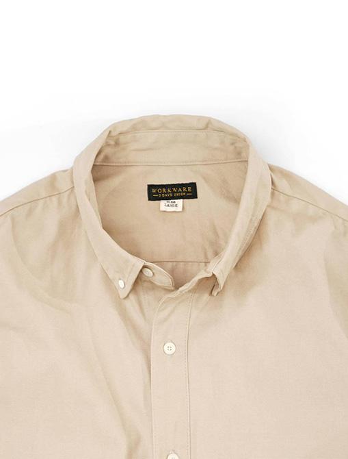 WorkWare Oversize Shirt Kakhi dettaglio logo