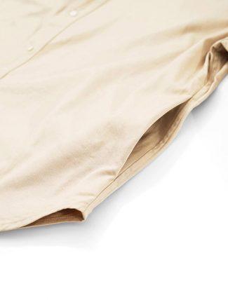 WorkWare Oversize Shirt Kakhi dettaglio tasca