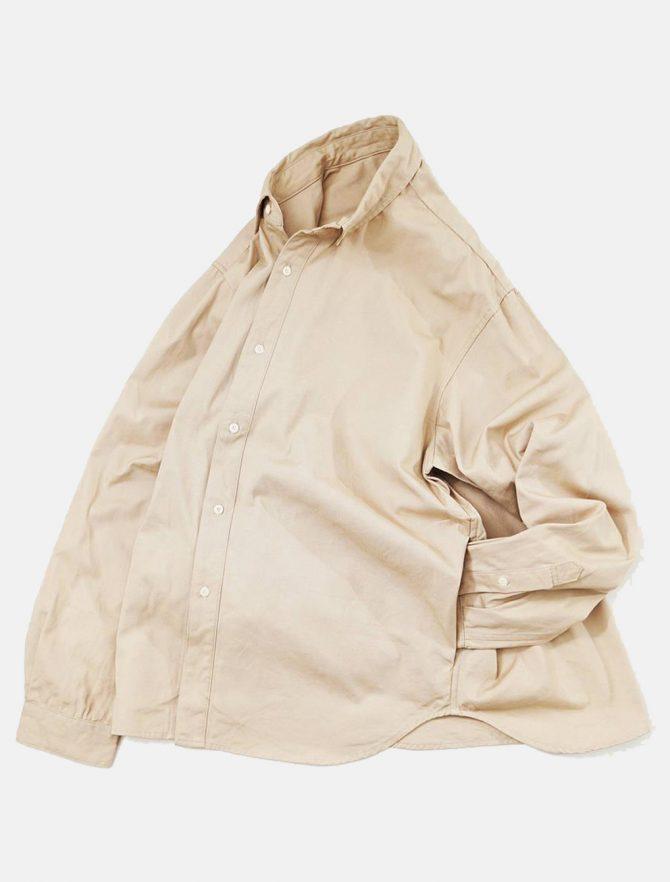 WorkWare Oversize Shirt Kakhi dettaglio laterale