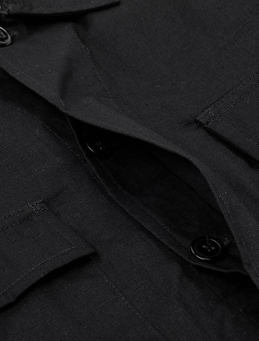 WorkWare Vietnam Jacket Black dettaglio bottoni