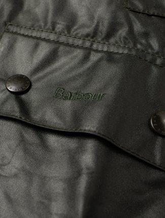 Barbour Bedale Jacket Sage pocket detail
