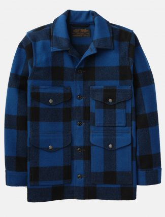 Filson Mackinaw Wool Cruiser Jacket Blue Cobalt Black