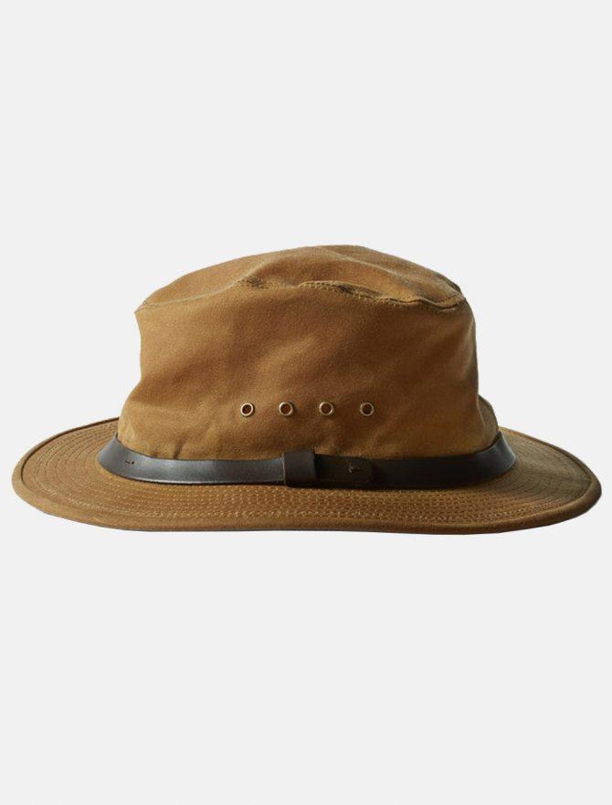 Filson Tin Cloth Packer Hat Dark Tan