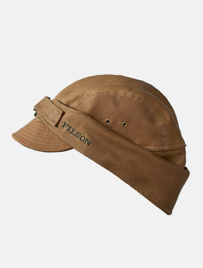Filson Tin Cloth Wildfowl Hat Dark Tan