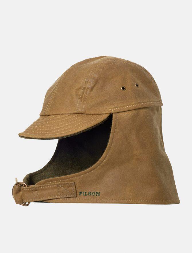 Filson Tin Cloth Wildfowl Hat Dark Tan dettaglio