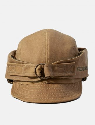 Filson Tin Cloth Wildfowl Hat Dark Tan dettaglio frontale