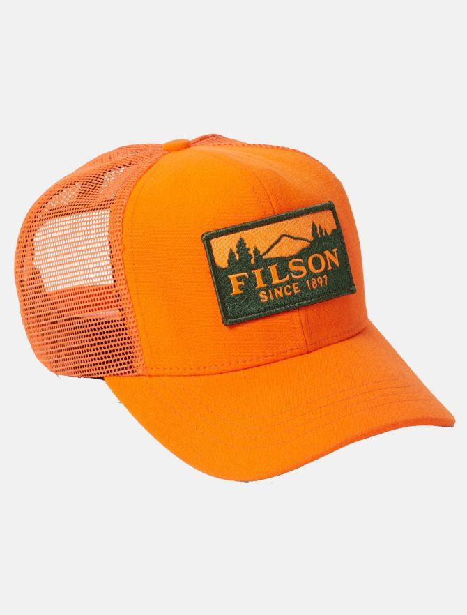 Filson Logger Mesh Cap Blaze Orange