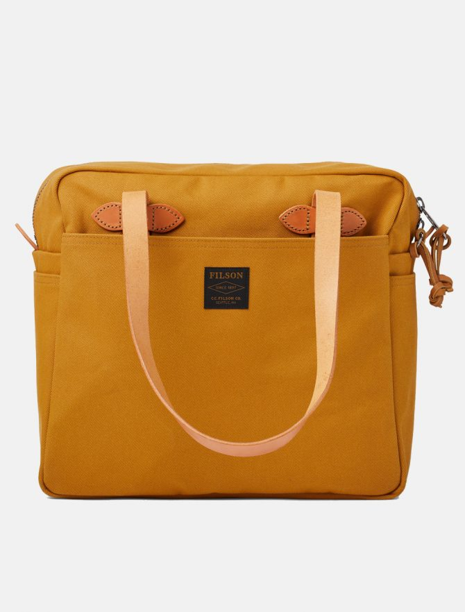 Filson Tote Bag W Zipper Chessie Tan