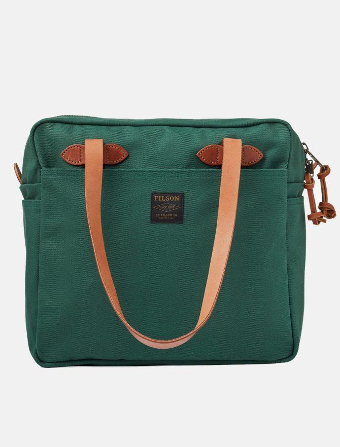 Filson Tote Bag W Zipper Hemlock