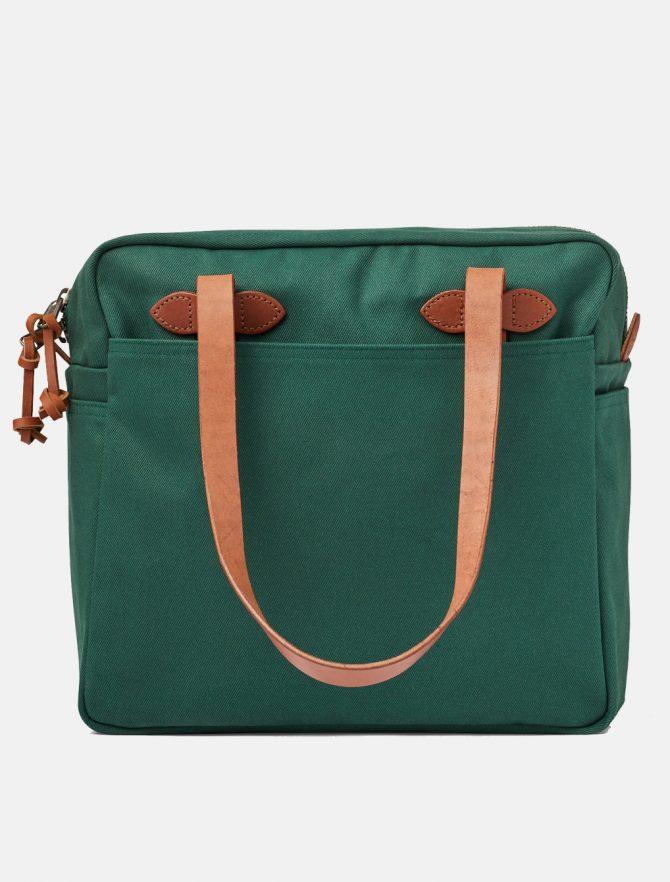 Filson Tote Bag W Zipper Hemlock retro