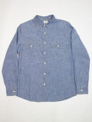Tela Genova Camicia Emilio Chambray Blue