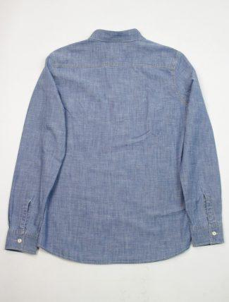Tela Genova Camicia Emilio Chambray Blue retro