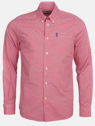 Barbour Gingham 19 Shirt Red