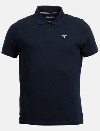 Barbour Tartan Pique Polo New Navy