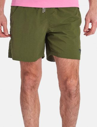Barbour Essential Swim Shorts Logo Olive front