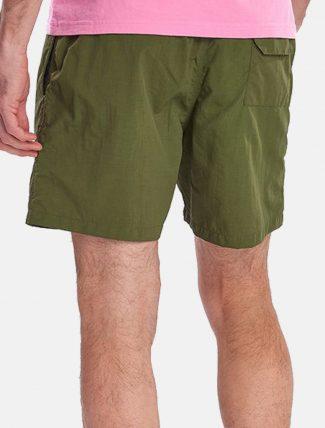 Barbour Essential Swim Shorts Logo Olive retro