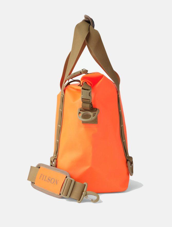 Filson Dry Roll-Top Tote Bag Flame fianco