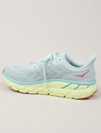 Hoka One One W Clifton 7 Morning Mist Hot Coral dettaglio laterale