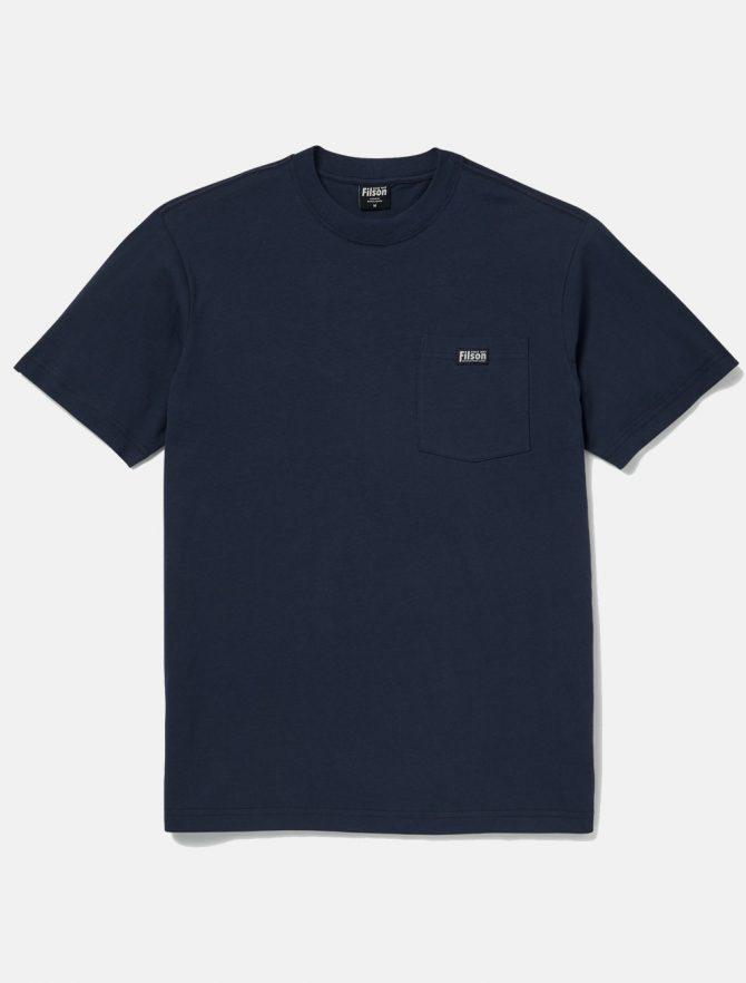 Filson Ranger Solid Pocket Tee Harbor Blue