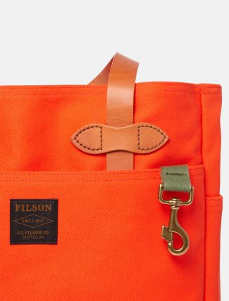 Filson Rugged Twill Tote Bag Phaesant Red dettaglio