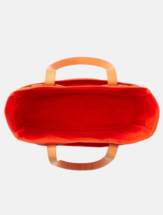 Filson Rugged Twill Tote Bag Phaesant Red interno
