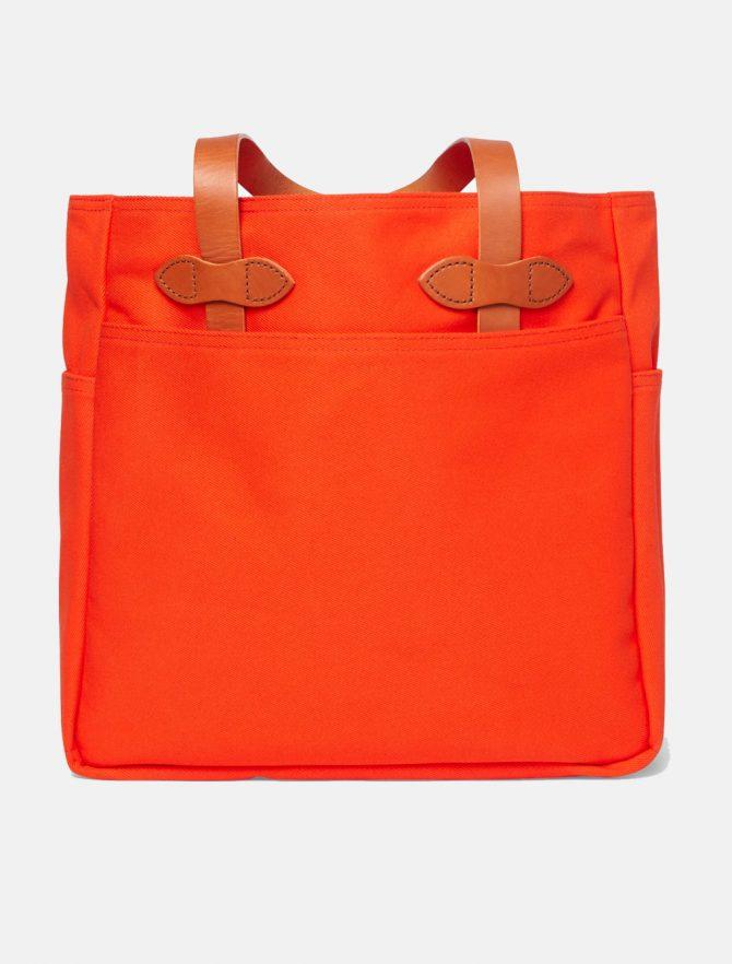 Filson Rugged Twill Tote Bag Phaesant Red retro