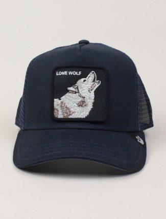 Goorin Bros Trucker Hat Lone Wolf Navy