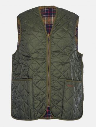 Barbour Quilted Waistcoat Zip Liner Olive