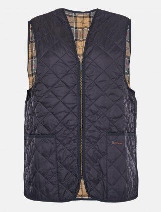 Barbour Quilted Waistcoat Zip Liner Navy
