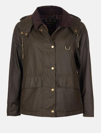 Barbour Avon Waxed Cotton Jacket Olive