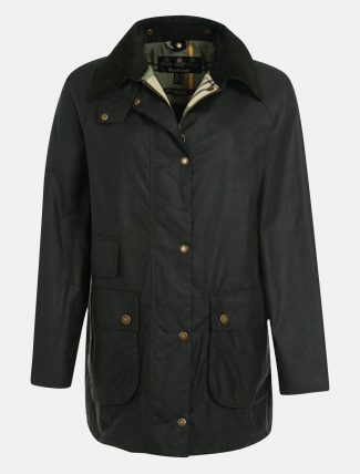 Barbour Tain Wax Jacket Sage