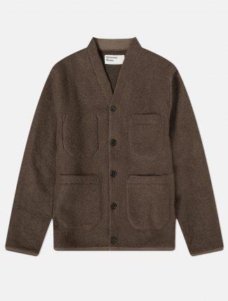 Universal Works Cardigan Wool fleece Brown